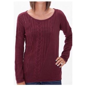 RVCA | Burgundy Open Weave Quiver Sweater